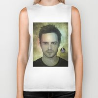jesse pinkman Biker Tanks featuring Jesse Pinkman, Yo bitch! by Duke.Doks