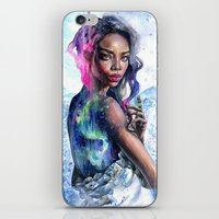 northern lights iPhone & iPod Skins featuring Northern Lights by Tanya Shatseva