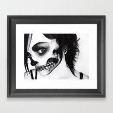 Death Mask Framed Art Print