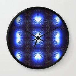 Blue Glow Abstractestry Wall Clock