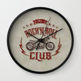 Rock 'n Roll Motorcycle Club Wall Clock