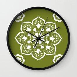 GREEN MANTALA Wall Clock