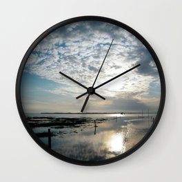 Lindisfarne causeway  Wall Clock