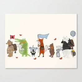 lets all go exploring Canvas Print