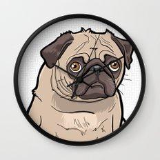 Fat Pug Wall Clock
