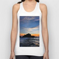 big sur Tank Tops featuring Big Sur sunset  by davehare