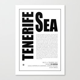 Tenerife Sea Canvas Print
