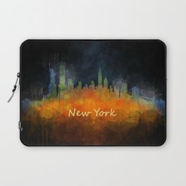 New York City Skyline Hq V04 Laptop Sleeve