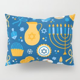 Hanukkah Happy Holidays Pattern Pillow Sham