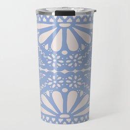 Fiesta de Flores Serenity Blue Travel Mug