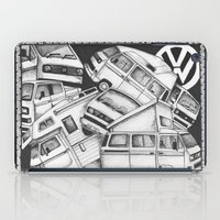 volkswagen iPad Cases featuring Volkswagen Campervans by Squidoodle