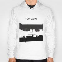top gun Hoodies featuring Top Gun Communicating  by NotThatMikeMyers