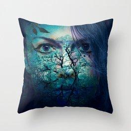Diana-Goddess of nature Throw Pillow