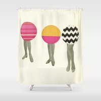 dancing Shower Curtains featuring Dancing Feet by Cassia Beck