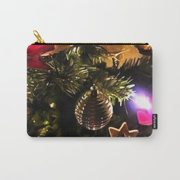 Bows Stars and Baubles Decorated Tree Carry-All Pouch