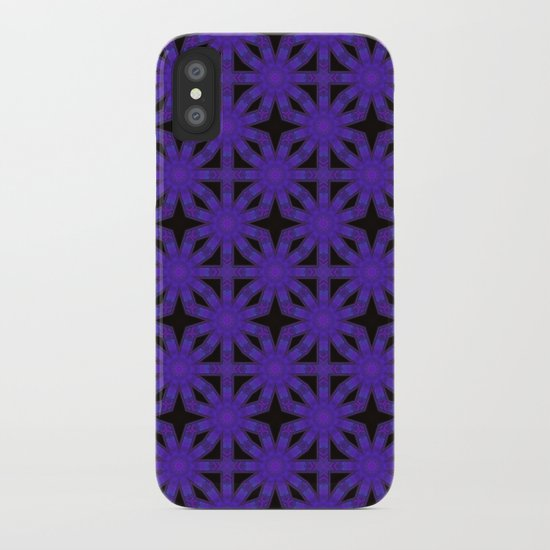 Purple/Black iPhone Case