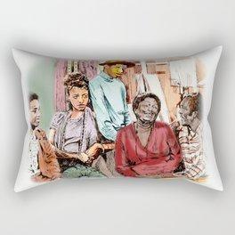 GOOD TIMES (pen sketch tribute to a classic sitcom) Rectangular Pillow