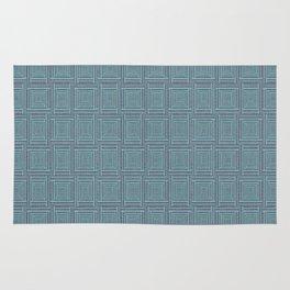 blue stitched background Rug