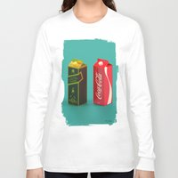 whisky Long Sleeve T-shirts featuring Whisky Cola by Maxim Kirienko Art