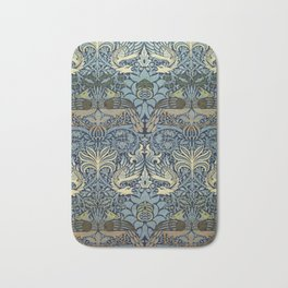Woven woollen fabric Peacock and Dragon by William Morris Bath Mat