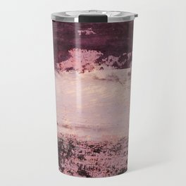 burgundy rose Travel Mug