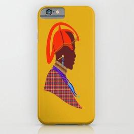 Kenya massai warrior africa graphic design digital art iPhone Case