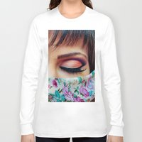 make up Long Sleeve T-shirts featuring Make Up by Eduard Leasa Photography