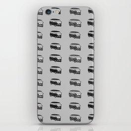 Grey camper pattern iPhone Skin