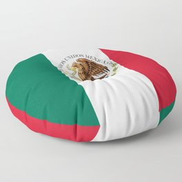 Flag of Mexico - alt version with seal insert Floor Pillow