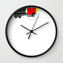 Winter Snowplow Keeping Up With The Status Snow Wall Clock