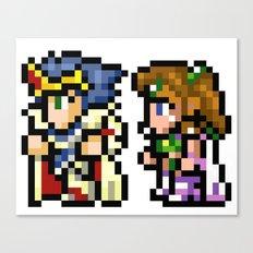 Final Fantasy II - Cecil and Rosa Canvas Print