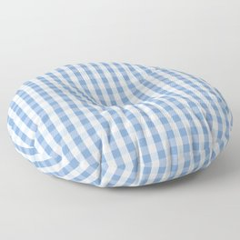 Classic Pale Blue Pastel Gingham Check Floor Pillow