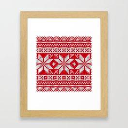 Winter knitted pattern 3 Framed Art Print