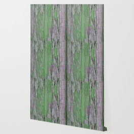 Green rustic wood Wallpaper