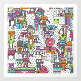 Droid City Art Print