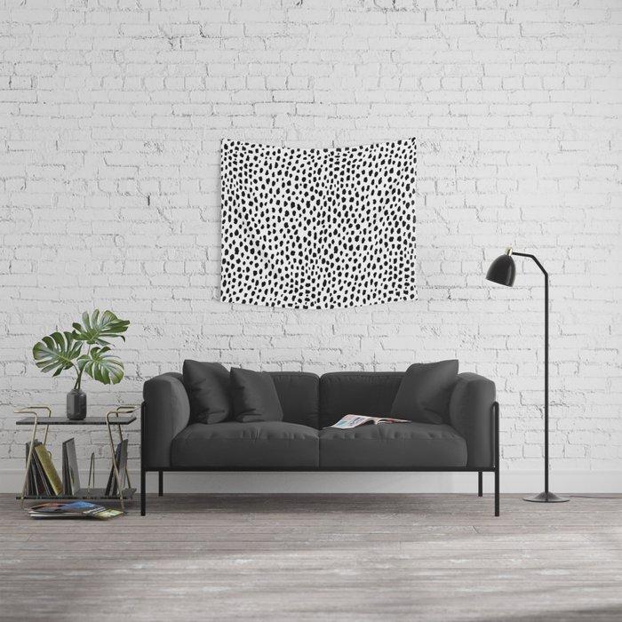 Dalmatian Spots (black/white) Wandbehang