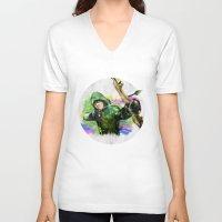 arrow V-neck T-shirts featuring arrow by evenstarss