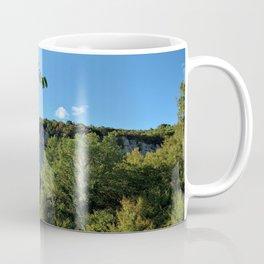 rock cliff at lim channel fjord istria croatia europe Coffee Mug