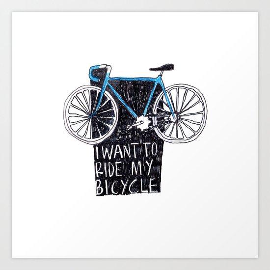 My Bicycle Art Print