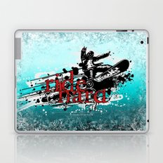 ride hard - snow Laptop & iPad Skin