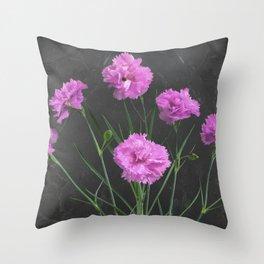 Pinks on Slate Throw Pillow