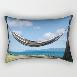 Hammock in the tropics Rectangular Pillow