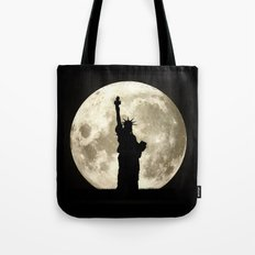 Full Moon Liberty Silhouette  Tote Bag