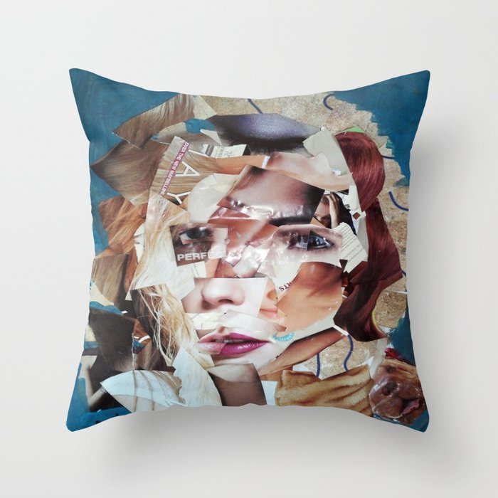 SHATTERED VISAGE Throw Pillow