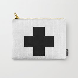 Black Swiss Cross Carry-All Pouch