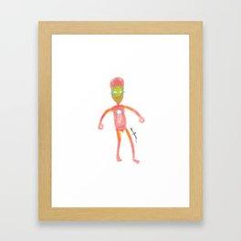 Superhero Serie - Ironpene Framed Art Print