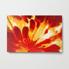 Red Explosion Metal Print