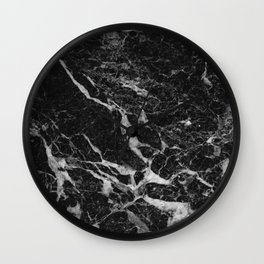 Back & Gray Marble texture Wall Clock