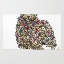 Flower Sheep Rug