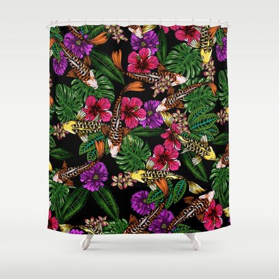 Tropical Koi Shower Curtain